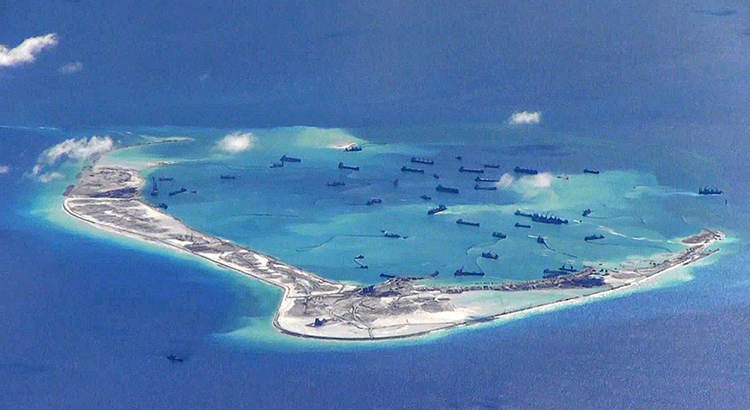 Subi Reef, Spratly Islands in the South China Sea