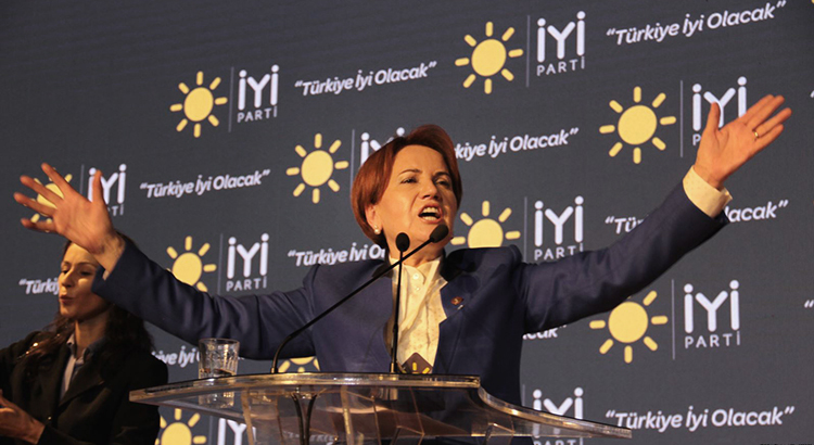 Meral Akşener at IYI Party's first congress in October 2017