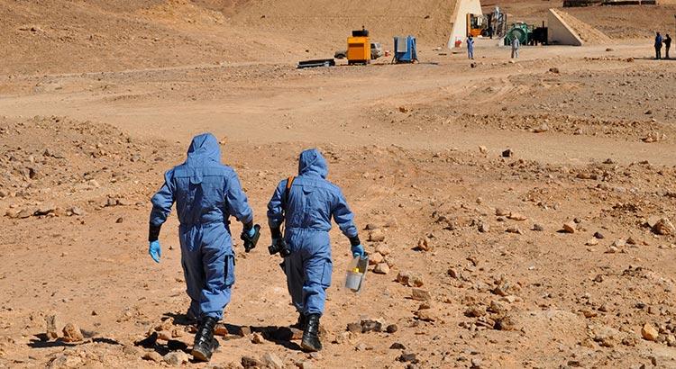 Chemiewaffen-Inspektoren bei der Arbeit