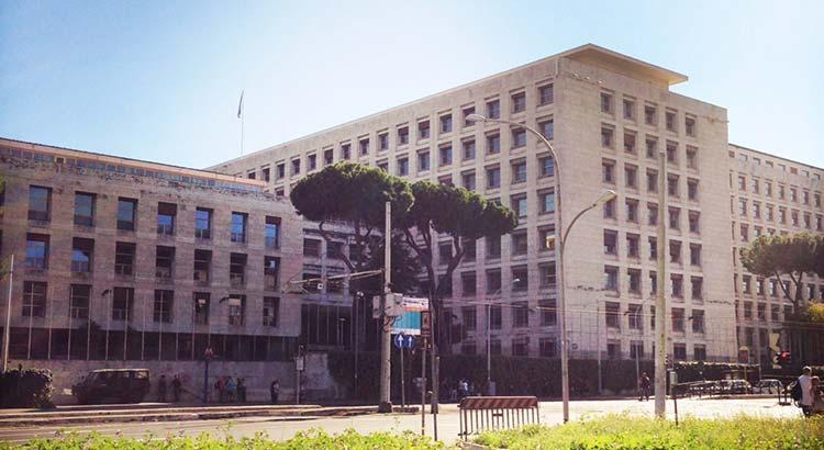 Der Hauptsitz der FAO in Rom