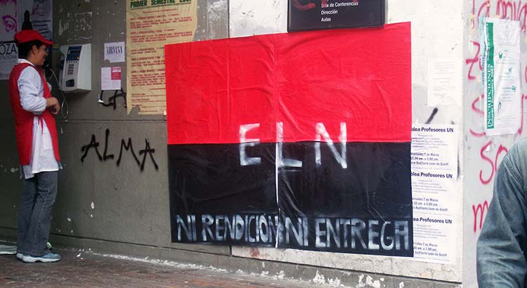 ELN guerrilla poster, National University of Colombia