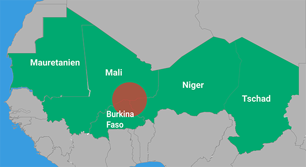 The Liptako-Gourma region in Mail, Burkina Faso and Niger