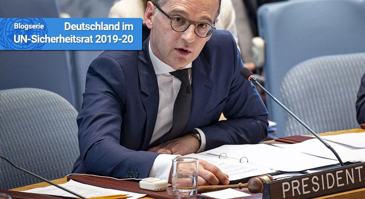 Außenminister Heiko Maas sitzt am 23. April 2019 dem UN-Sicherheitsrat vor