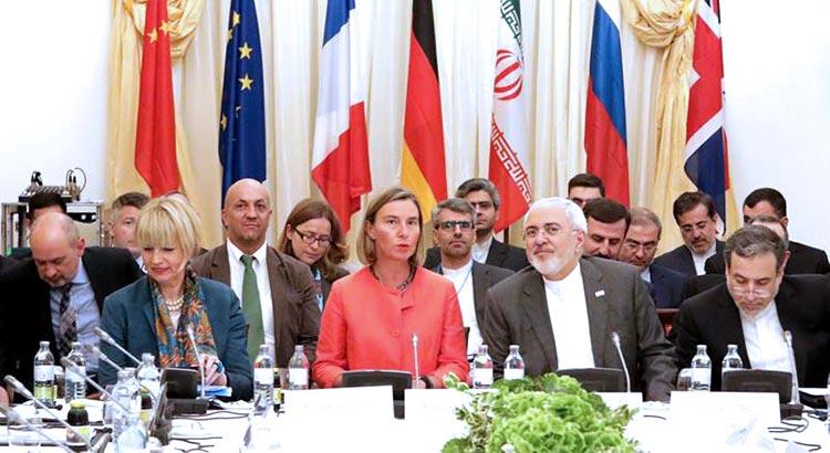 Federica Mogherini war die Vorsitzende des Treffens der Joint Commission zur JCPOA am 6. Juli 2018 in Wien