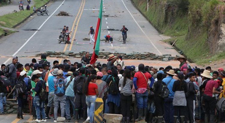 On March 15th 2019, indigenous protesters blocked the important Panamericana at several locations