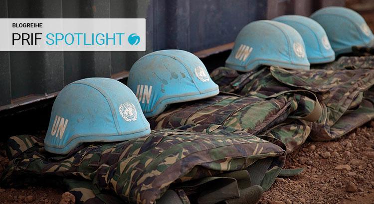 Uniformen von UN-Peacekeepern in Gao, Mali