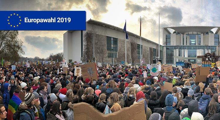 Schulstreik vor dem Kanzleramt, 25.01.2018, Berlin