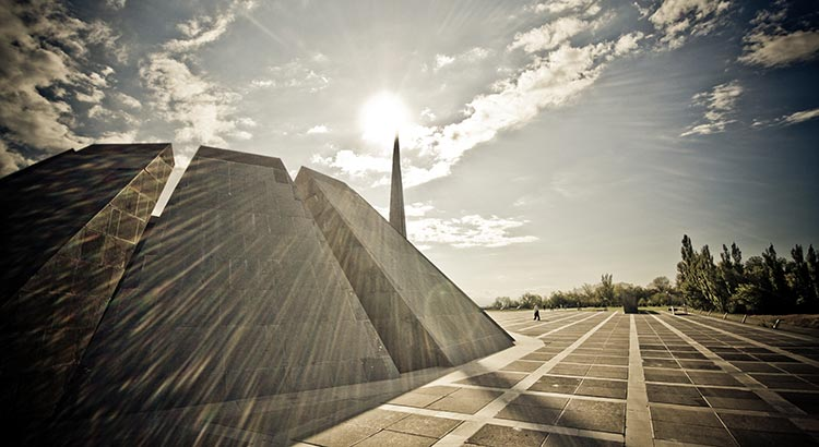 The Tsitsernakaberd Memorial in Yerevan, Armenia's official Genocide memorial
