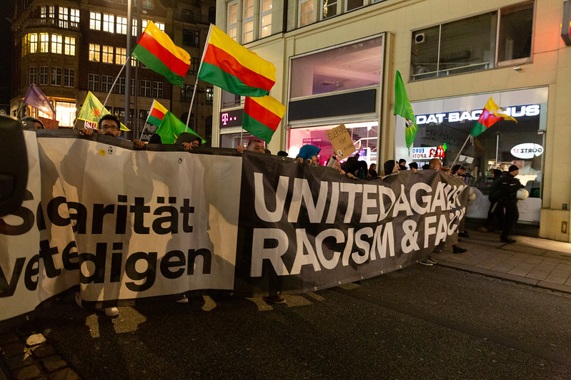 Demonstration in Hamburg.