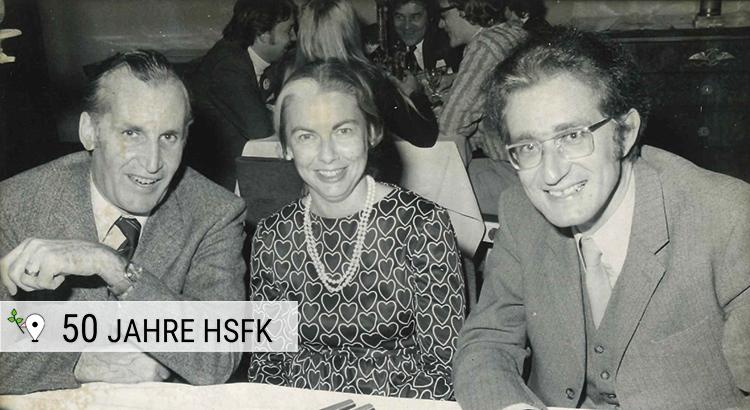 Kultusminister L. Friedeburg, Friedenspädagogin B. A. Reardon und D. Senghaas im November 1972
