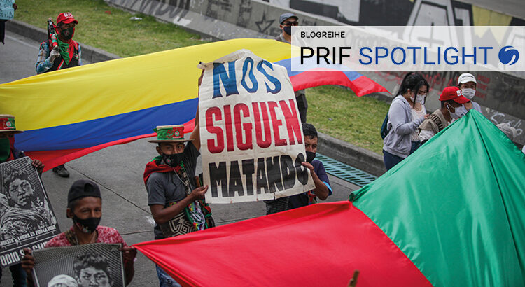 """""""They kill us on and on"""" - more than 8000 indigenous people from the Cauca region protest against the escalating violence in Bogotá on 19.10.2020 